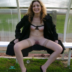 Frederique Spreads Legs In Public - Public Exhibitionist, Flashing, Outdoors, Public Place, Amateur