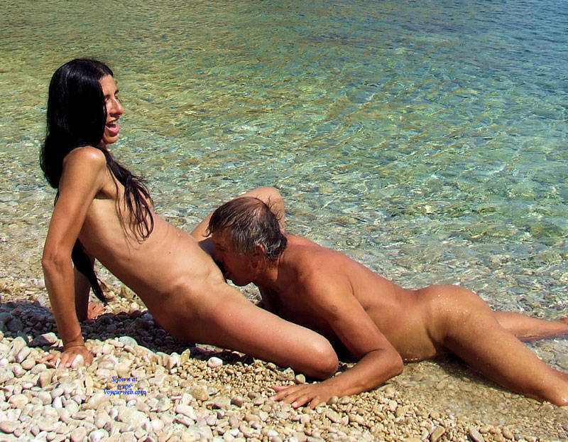 Naked nude peeing public