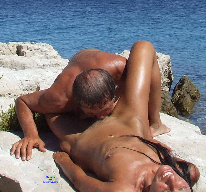 Nude beach pussy eating theme