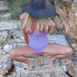 Hot Blonde On The Rocks - Big Tits, Bikini, Blonde Hair, Flashing Tits, Flashing, Nude Outdoors, Shaved Pussy, Showing Tits, Hairless Pussy, Hot Girl, Sexy Body, Sexy Boobs, Sexy Face, Sexy Feet, Sexy Girl, Sexy Legs