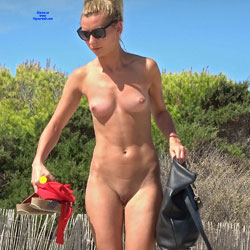Motorbike Nudists - Blonde Hair, Nude Outdoors, Shaved, Beach Voyeur, Naked Girl, Sexy Ass
