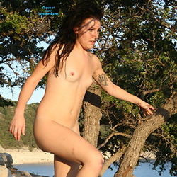 Sunset Nipples - Nude Girls, Brunette, Outdoors, Small Tits, Tattoos