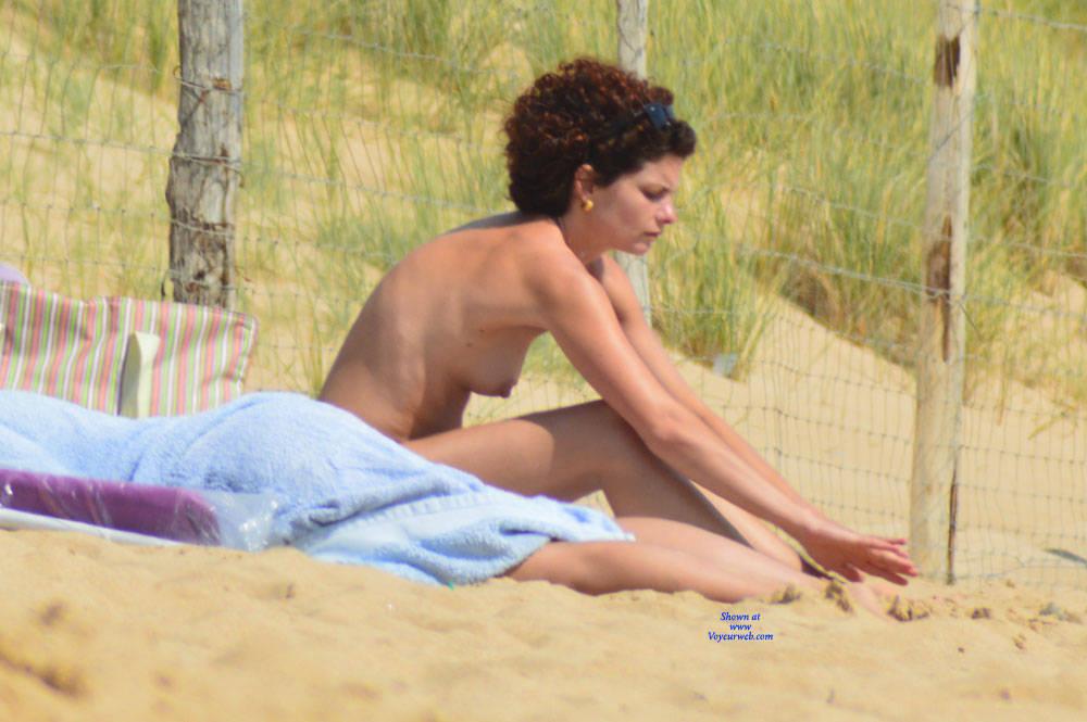 Pic #1 On The Beach In France - Same Girl - Beach, Outdoors, Medium Tits, Beach Voyeur