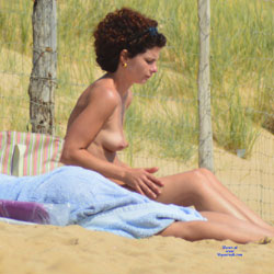 On The Beach In France - Same Girl - Nude Outdoors, Perfect Tits, Beach Voyeur