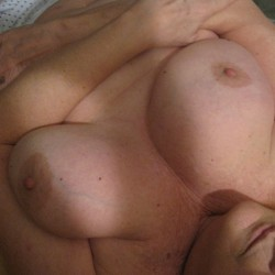 Extremely large tits of my wife - sandy