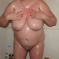 Wife Oiled Naked! - Nude Wives, Big Tits, Mature, Bush Or Hairy, Amateur