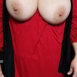 Very large tits of my wife - My shy wife