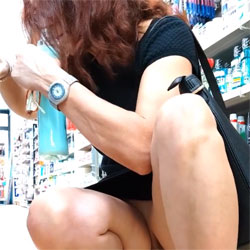 My Wife Upskirt At The Supermarket - Pantieless Wives, Public Place, Amateur, Upskirt No Panties