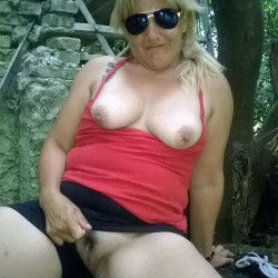Walking In The Park - Big Tits, Outdoors, Dressed, Nature, Amateur