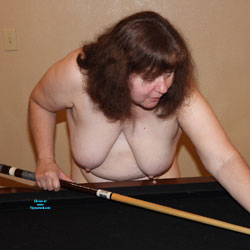 Playing Pool - Topless Wives, BBW, Big Tits, Brunette, Mature, Amateur