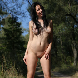 Stripping In The Woods - Big Tits, Brunette Hair, Huge Tits, Naked Outdoors, Nipples, Nude In Nature, Nude Outdoors, Perfect Tits, Shaved Pussy, Hairless Pussy, Hot Girl, Sexy Body, Sexy Face, Sexy Feet, Sexy Girl, Sexy Legs