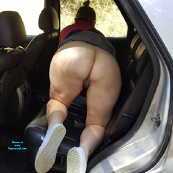 Aussie Wife Out For A Drive - Pantieless Wives, Big Tits, Amateur
