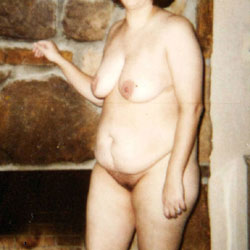 Hanging Around The Fireplace - Nude Wives, Big Tits, Mature, Amateur