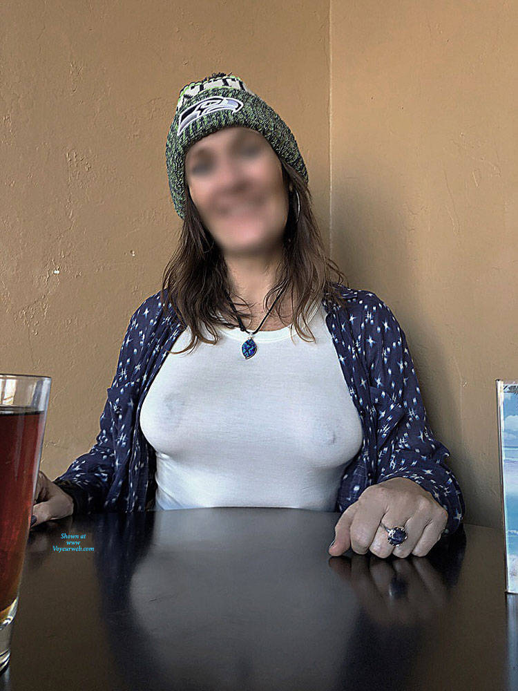 Pic #6 Halftime Show At Fav Bar In AZ - Big Tits, Public Exhibitionist, Flashing, Public Place, See Through, Amateur