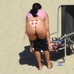 Wife From Janga Beach, Brazil - Beach, Brunette, Outdoors, Bikini Voyeur