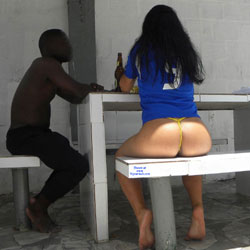 Selma Brasil And African Boy - Brunette, Outdoors