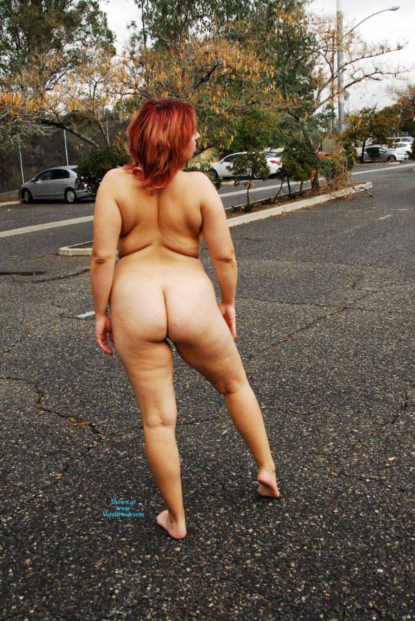 Bare tits in public