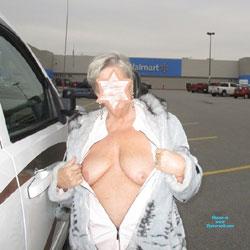 Texas Road Trip - Big Tits, Public Exhibitionist, Flashing, Outdoors, Public Place, Amateur, Mature
