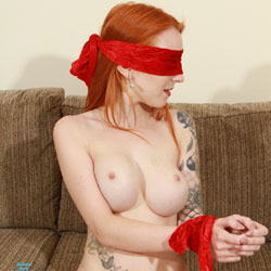Red Blindfold - Nude Girls, Big Tits, Redhead, Shaved, Amateur, Tattoos