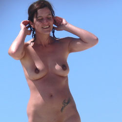Canary Islands - Nude Girls, Beach, Big Tits, Brunette, Outdoors, Shaved, Beach Voyeur, Tattoos