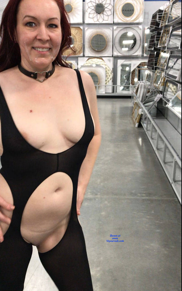 Pic #5 Fun Flashing - Public Exhibitionist, Flashing, Public Place, Redhead, Shaved, Amateur, Wife/wives