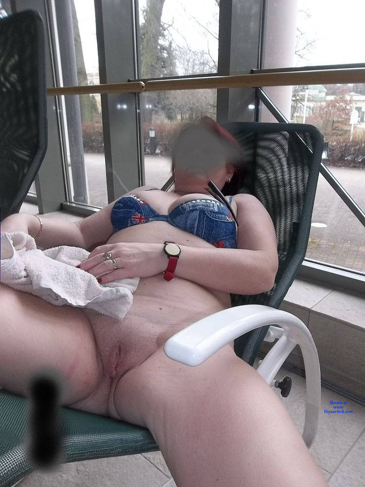 Pic #3 Public Swimming Pool - Pantieless Girls, Public Exhibitionist, Flashing, Public Place, Shaved, Amateur