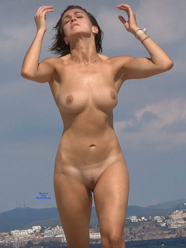 Pic #8 Nice Shapes 2 - Nude Girls, Beach, Big Tits, Brunette, Outdoors, Beach Voyeur