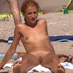Red Haired Again - Nude Girls, Beach, Outdoors, Redhead, Shaved, Beach Voyeur
