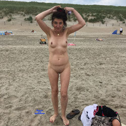 The Nude Beach Netherlands - Nude Girls, Beach, Brunette, Outdoors, Shaved, Amateur