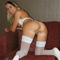 All In White - Wives In Lingerie, Blonde, Mature, Amateur, Firm Ass