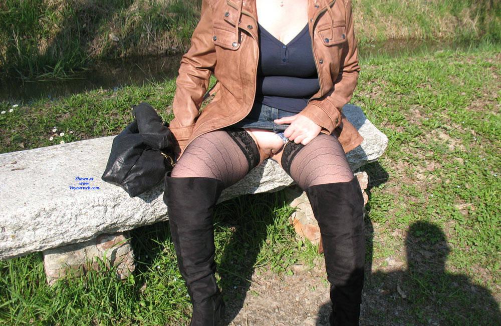 Pic #9 Uscita Al Parco - Lingerie, Outdoors, Amateur, Stockings Pics