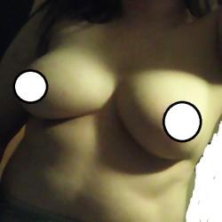 Medium tits of a neighbor - lady friend