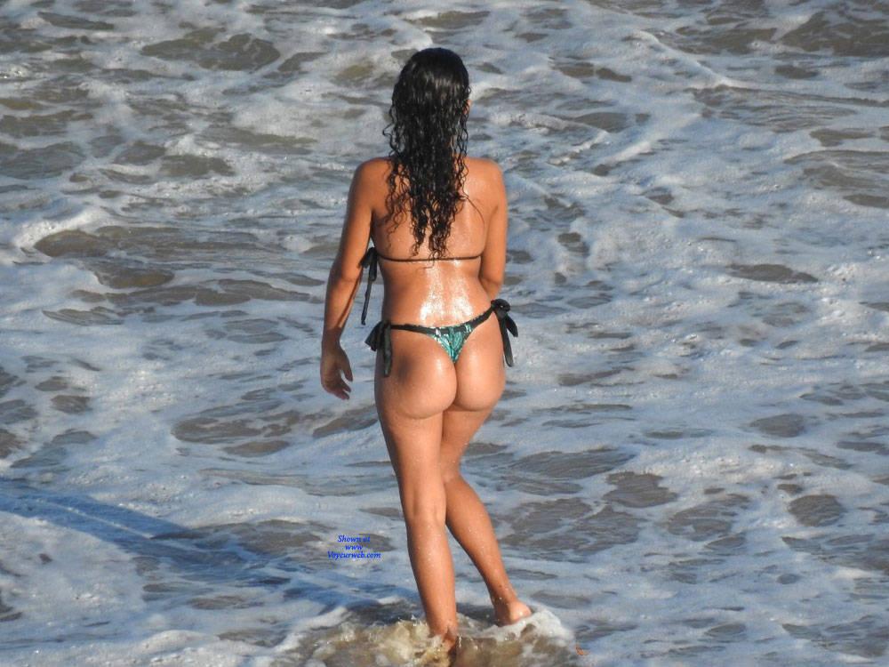 Pic #6 Janga Beach - Beach, Brunette, Outdoors, Bikini Voyeur