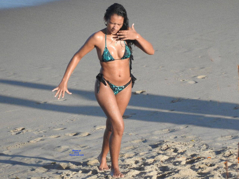Pic #10 Janga Beach - Beach, Brunette, Outdoors, Bikini Voyeur