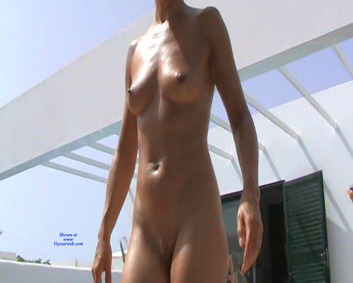Pic #4 Nude In And Around The Pool - Nude Girls, Mature, Outdoors, Shaved, Amateur