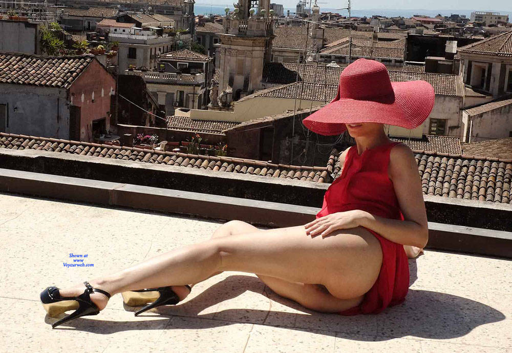 Pic #3 Red Roof Dress - Nude Girls, Public Exhibitionist, Flashing, Outdoors, See Through, Bush Or Hairy, Amateur, High Heels Amateurs, Firm Ass