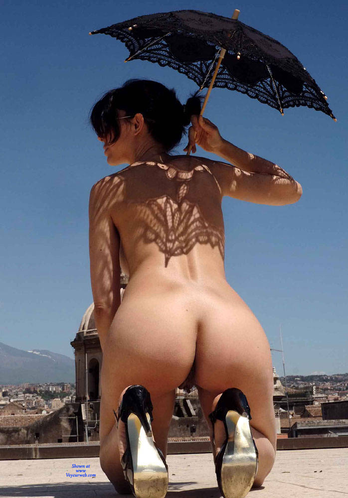 Pic #9 Red Roof Dress - Nude Girls, Public Exhibitionist, Flashing, Outdoors, See Through, Bush Or Hairy, Amateur, High Heels Amateurs, Firm Ass