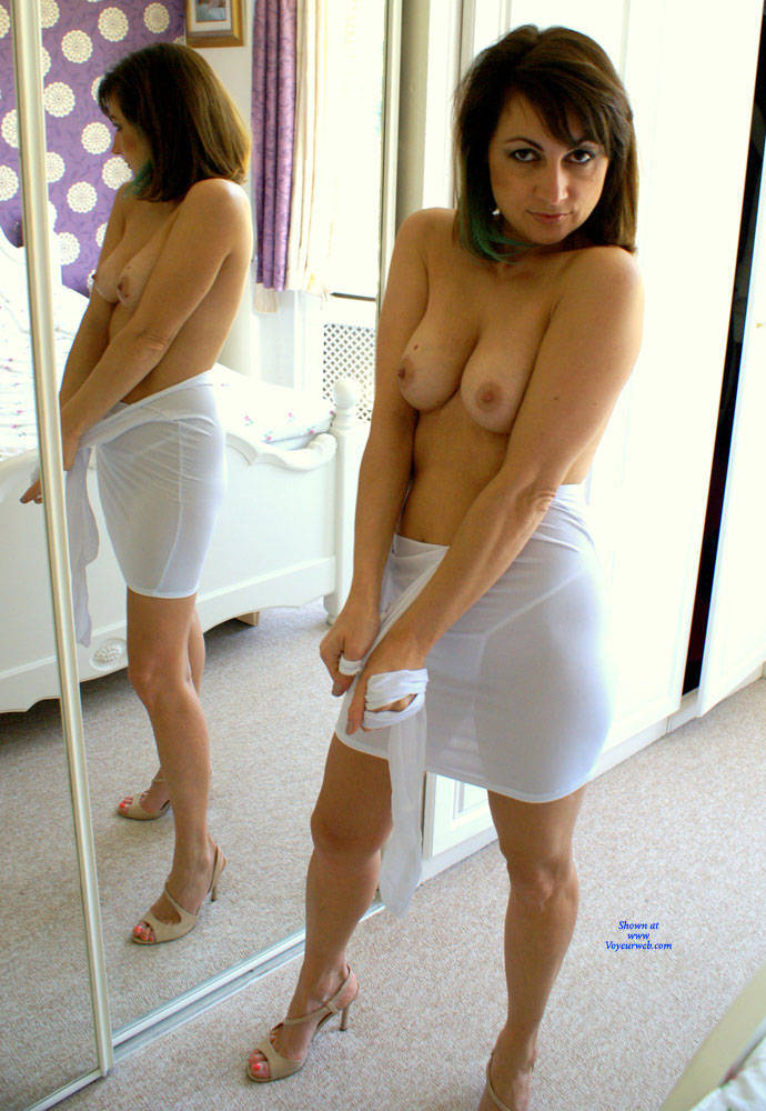 Anna  - White Dress , White Dress, Nude, Small Tits, Perky Tits, Hard Nipples, Shaved Pussy, Big Ass