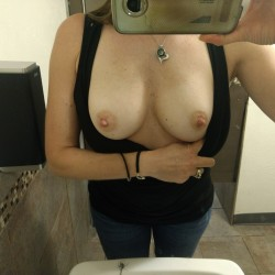 Medium tits of my wife - Heidi