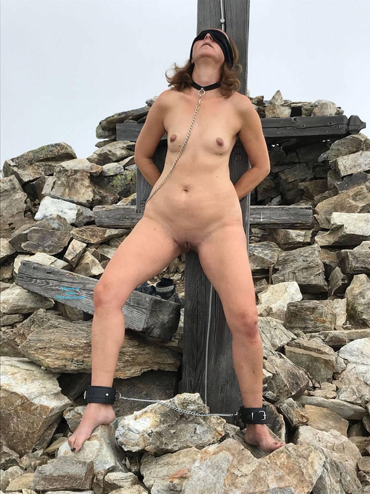 Pic #2 Submissive In The Mountains Part Two - Nude Girls, Brunette, Mature, Outdoors, Shaved, Amateur, Medium Tits