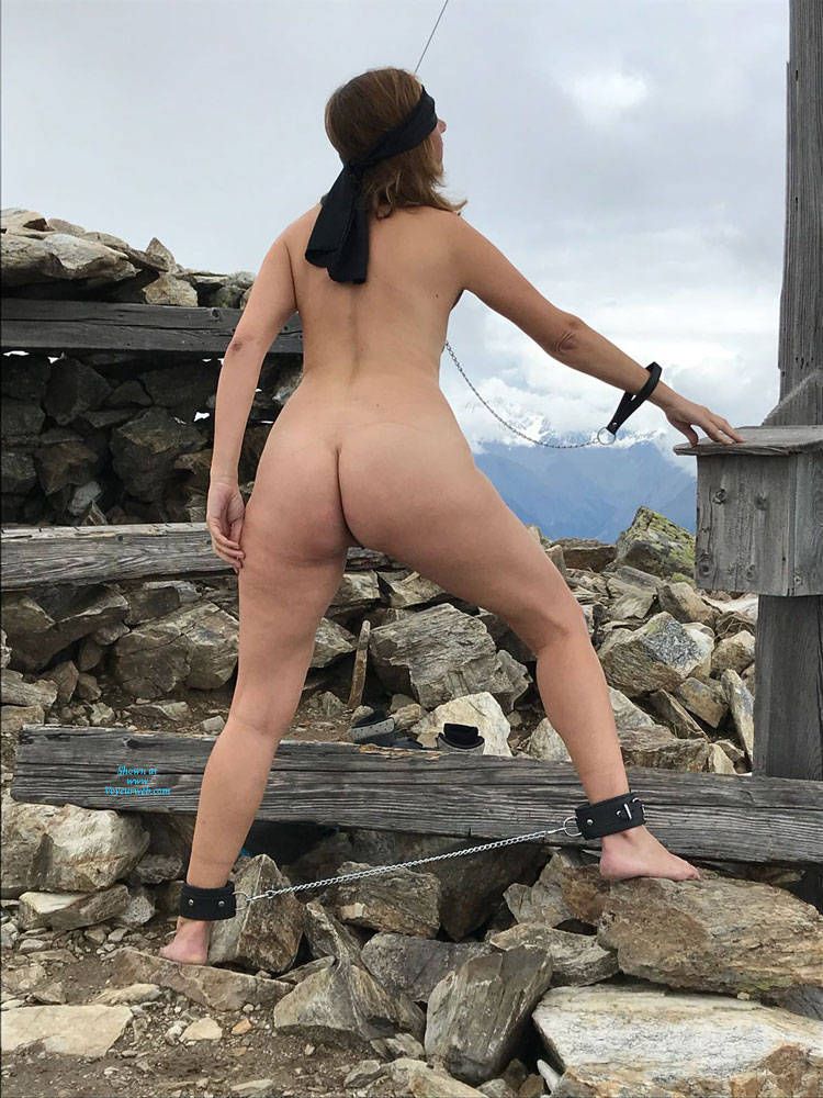 Pic #4 Submissive In The Mountains Part Two - Nude Girls, Brunette, Mature, Outdoors, Shaved, Amateur, Medium Tits