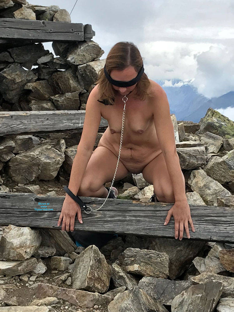 Pic #5 Submissive In The Mountains Part Two - Nude Girls, Brunette, Mature, Outdoors, Shaved, Amateur, Medium Tits