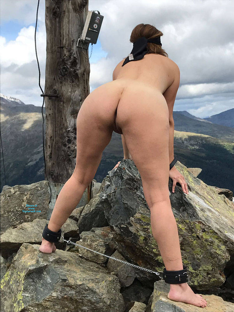 Pic #7 Submissive In The Mountains Part Two - Nude Girls, Brunette, Mature, Outdoors, Shaved, Amateur, Medium Tits