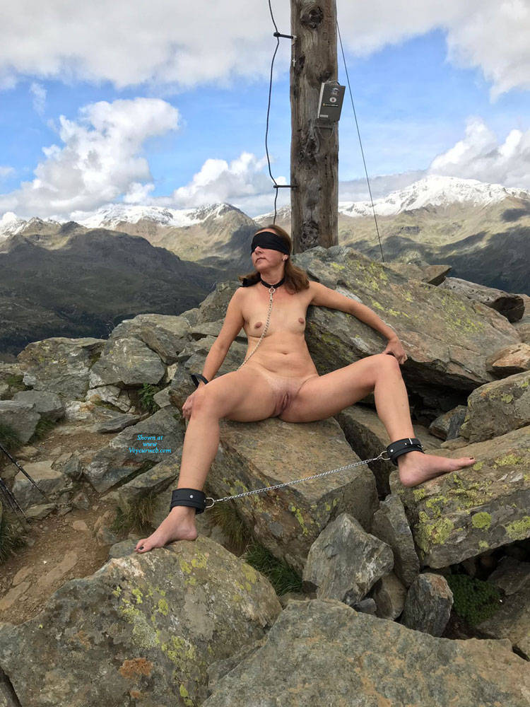 Pic #8 Submissive In The Mountains Part Two - Nude Girls, Brunette, Mature, Outdoors, Shaved, Amateur, Medium Tits