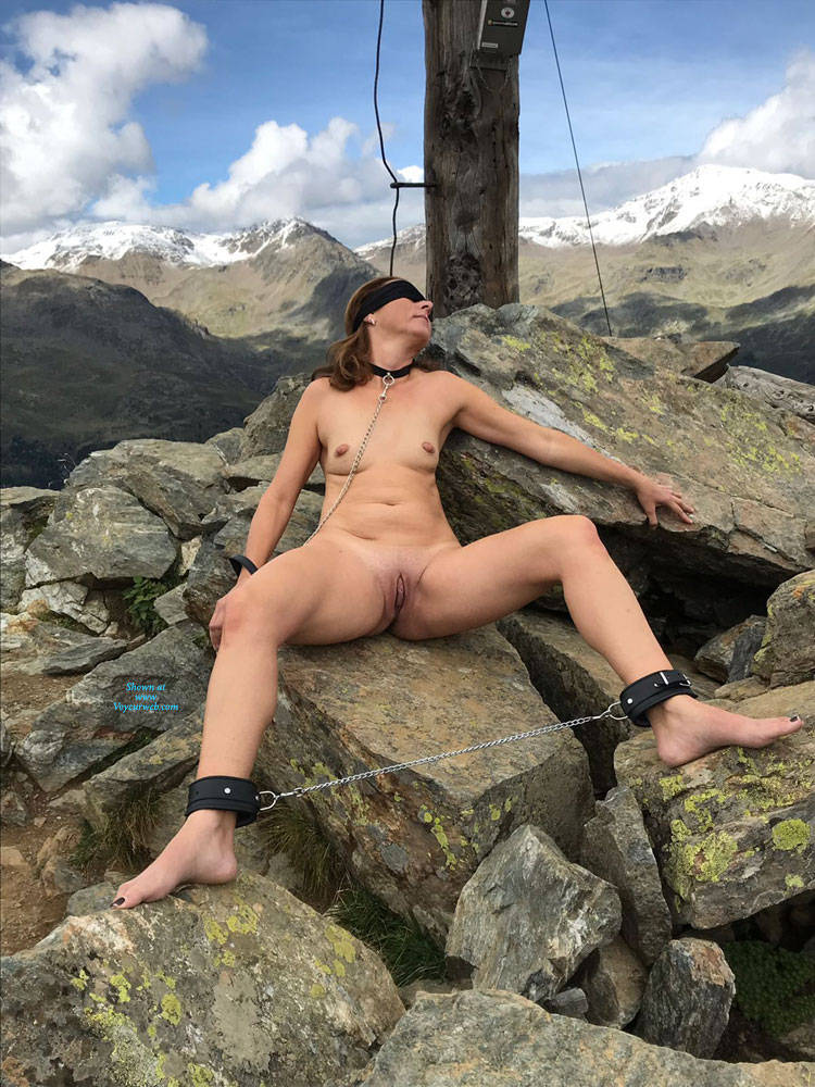 Pic #9 Submissive In The Mountains Part Two - Nude Girls, Brunette, Mature, Outdoors, Shaved, Amateur, Medium Tits