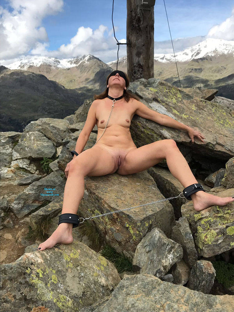 Pic #10 Submissive In The Mountains Part Two - Nude Girls, Brunette, Mature, Outdoors, Shaved, Amateur, Medium Tits