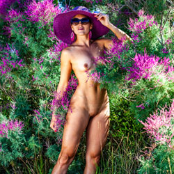 Beautiful Flower In Flowers - Nude Girls, Outdoors, Shaved, Nature, Amateur, Medium Tits, Firm Ass