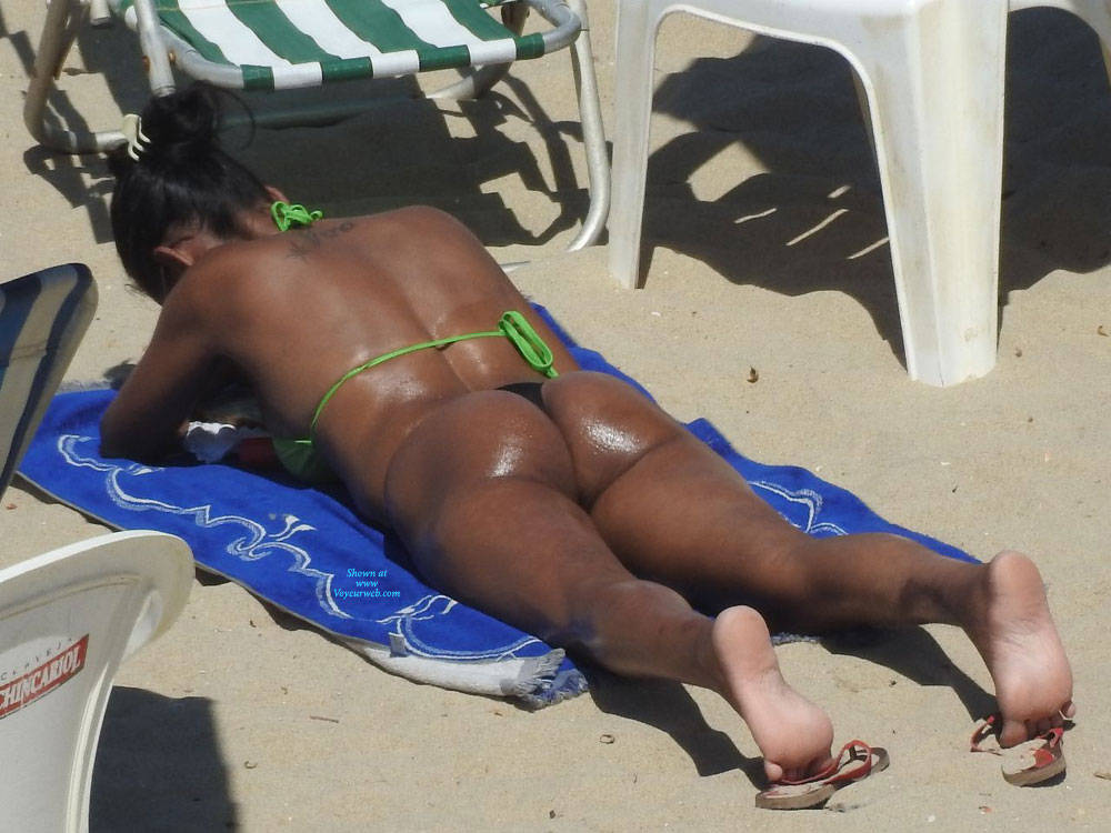 Pic #1 Asses From Brazil - Beach, Brunette, Outdoors, Bikini Voyeur
