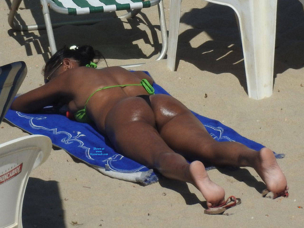 Pic #2 Asses From Brazil - Beach, Brunette, Outdoors, Bikini Voyeur
