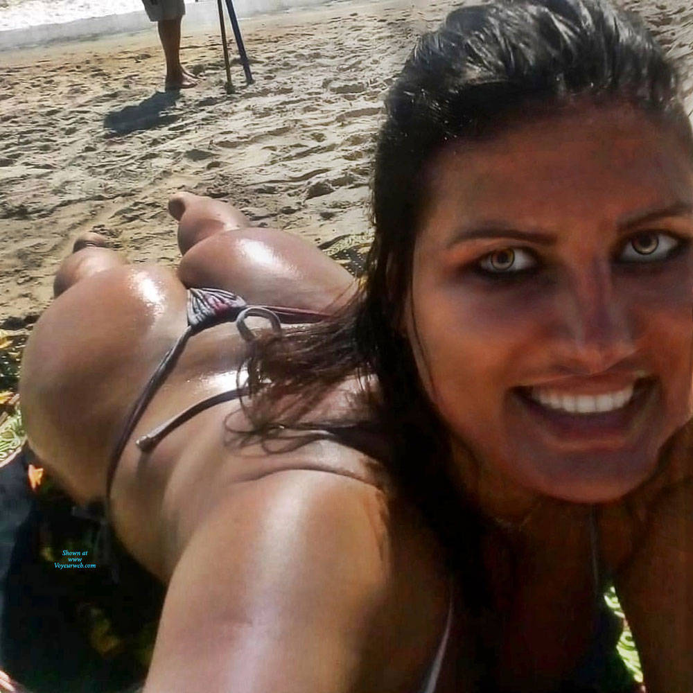 Pic #3 Asses From Brazil - Beach, Brunette, Outdoors, Bikini Voyeur